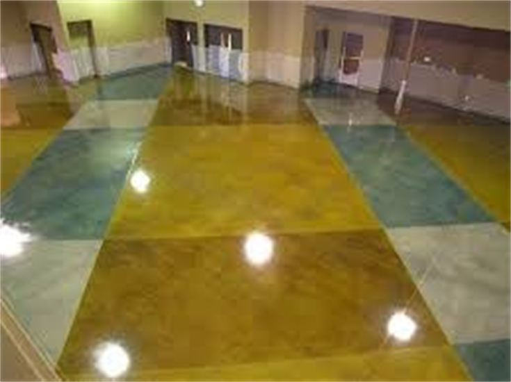 Custom Concrete Stained Floor