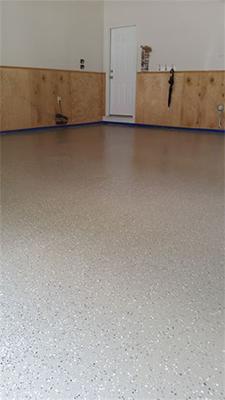Garage flooring install