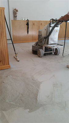 garage floor surface preparation in Atlanta
