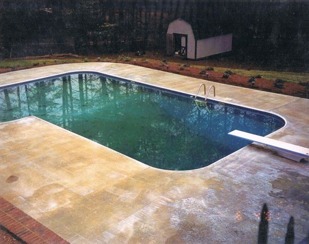 Residential Pool Deck Repair Before