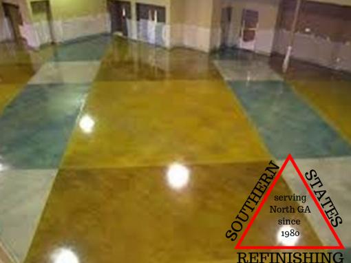 Custom Concrete Stained Floor