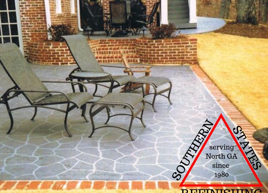 Flagstone Stencil for Concrete Patio