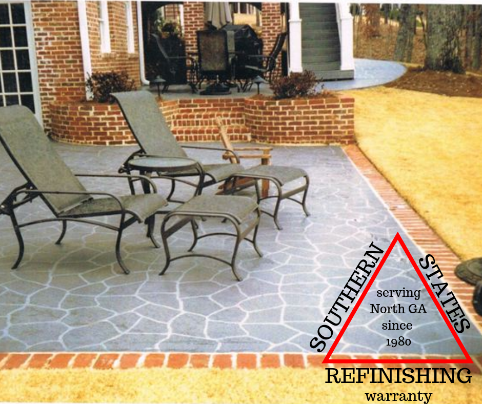 Flagstone Stencil for Concrete Patio