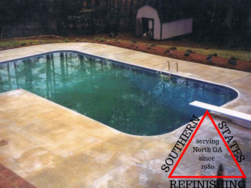 Residential Pool Deck Repair Before