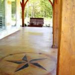 stained concrete star