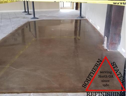 Polished Concrete Sample in Cumming Ga