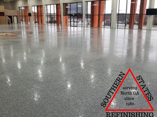 Auto Gallery Floor Epoxy in Buford Ga