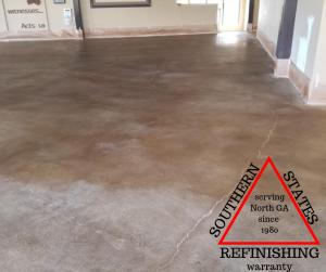 stain concrete floor cumming ga