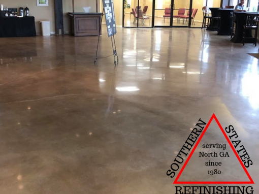 Polished and Stained Concrete in Cumming, Georgia Finished Product