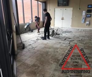 removing tile in cumming ga