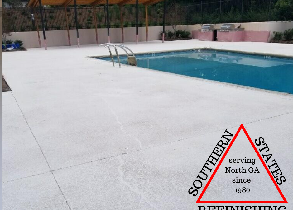 Pool Deck Repair and Splatter