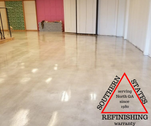 white stained concrete